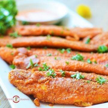 cajun fish served