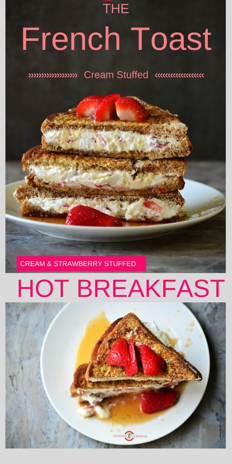 IHOP *CopyCat* French Toast with Cream Cheese & Strawberry Filling pin image