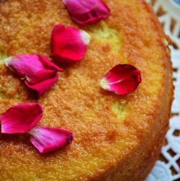 baked hot milk cake