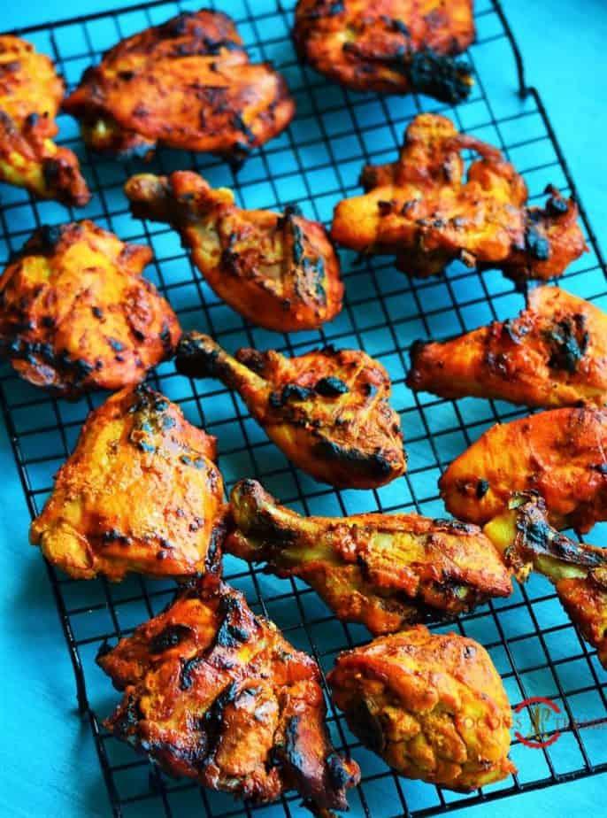 The Best Tandoori chicken, chicken tandoori in oven, chicken tandoori recipe, tandoori chicken recipe, how to make tandoori chicken without a tandoor, how to make chicken tandoori, restaurant style chicken tandoori.