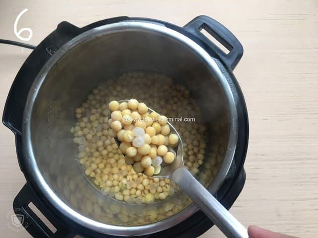 Yellow peas are well done in an Instant Pot.