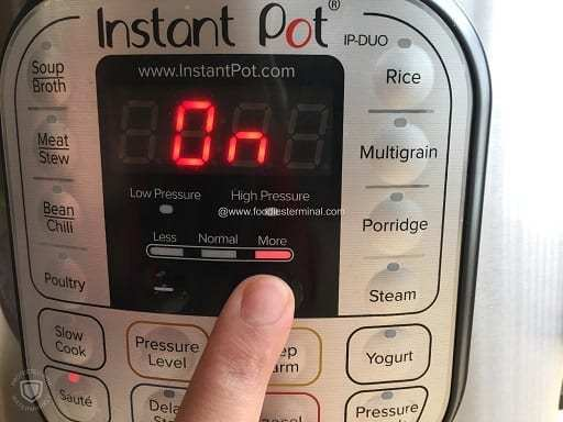 Instant pot ready to cook the chicken