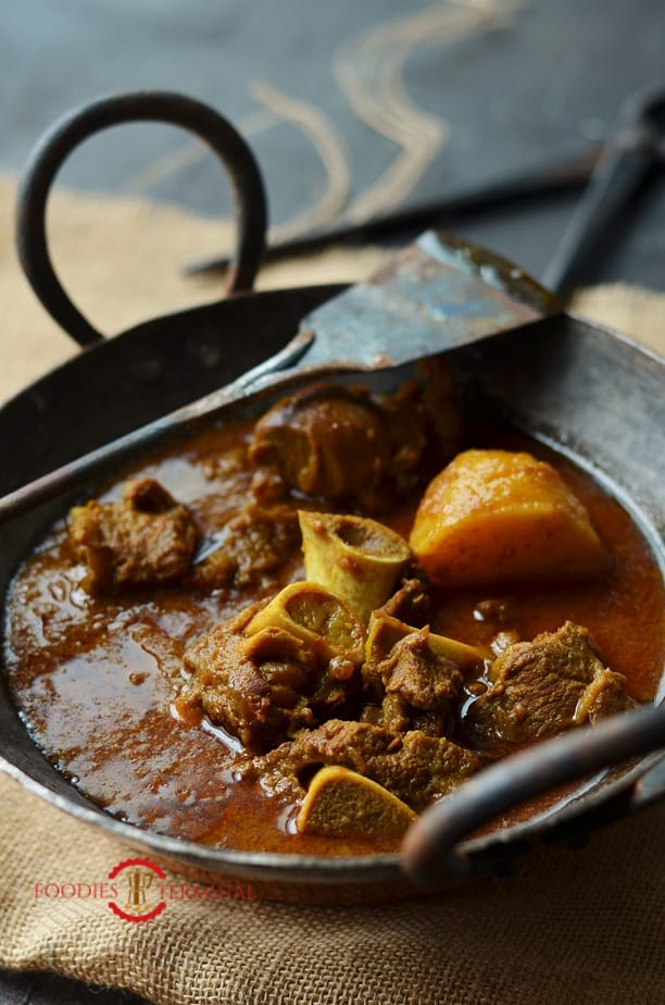 Instant Pot Curry Goat cooked with Potato chunks