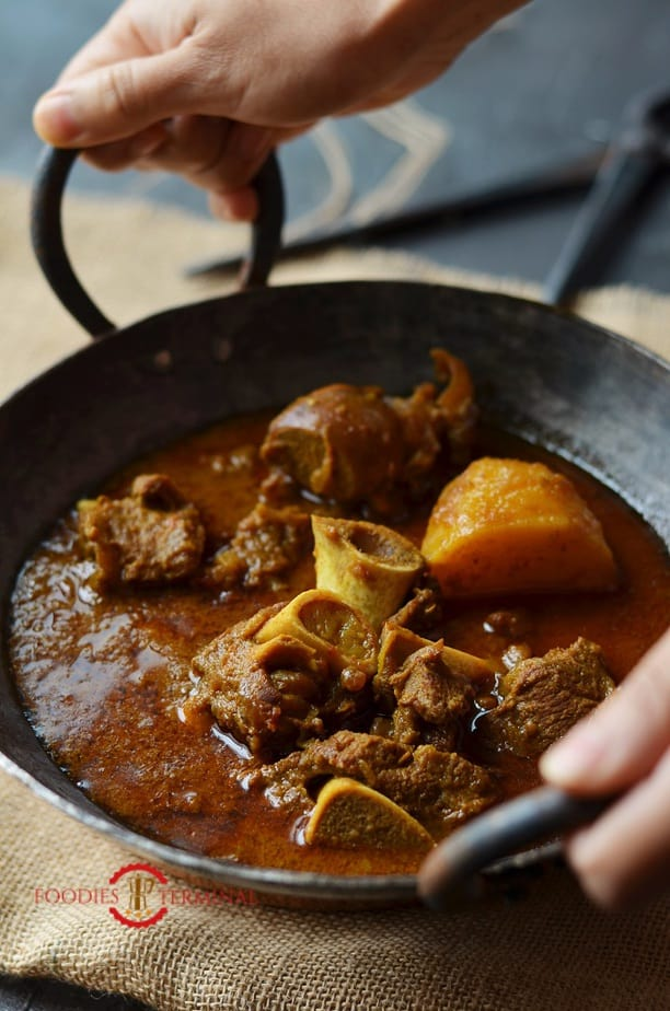 Indian Goat Curry served & cooked in an Instant Pot