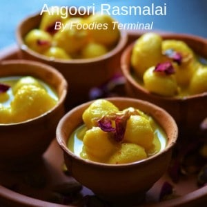 Angoori Rasmalai Recipe served in clay pots
