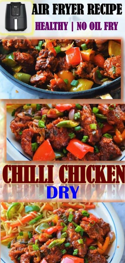 Air Fryer Chilli Chicken Dry Recipe