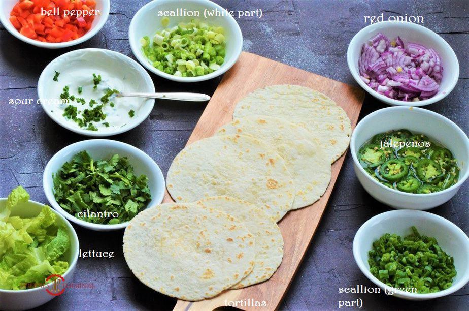 Ingredients for Cajun Shrimp Tacos