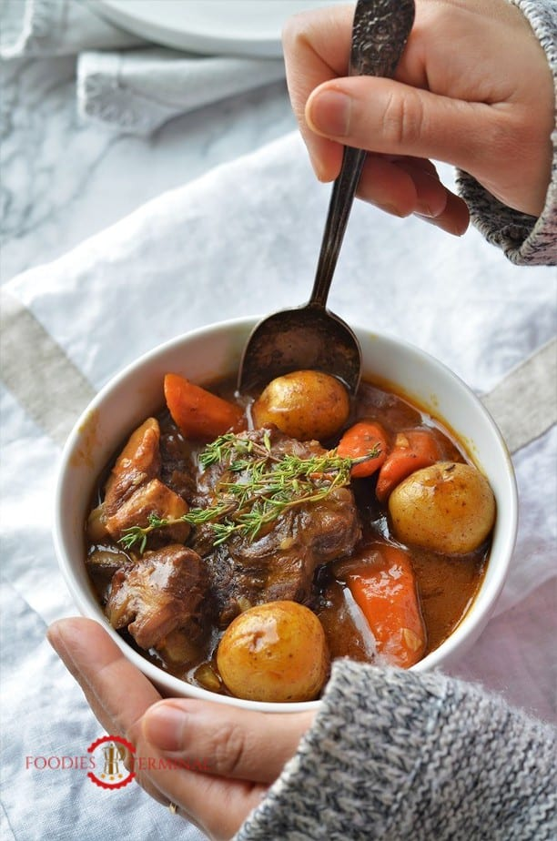 Lamb stew recipe in instant pot with carrot & potatoes