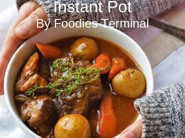 Easy Lamb Stew cooked in Instant Pot with root vegetables
