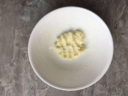 The mawa ready on a white bowl