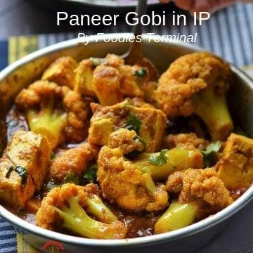 Paneer Gobi served in an rustic plate