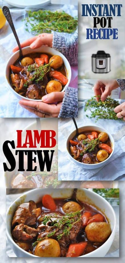 Easy Lamb Stew Recipe cooked in Instant Pot