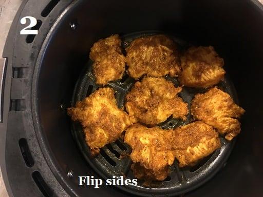 Air fried Achari Chicken Tikka