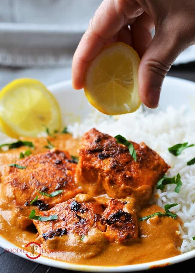 Fish tikka masala recipe with squeezed lemon juice