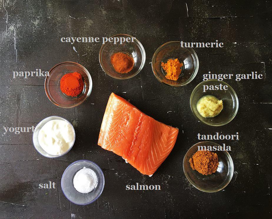 Ingredients for Fish tikka