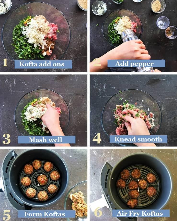 How to make mutton koftas in air fryer