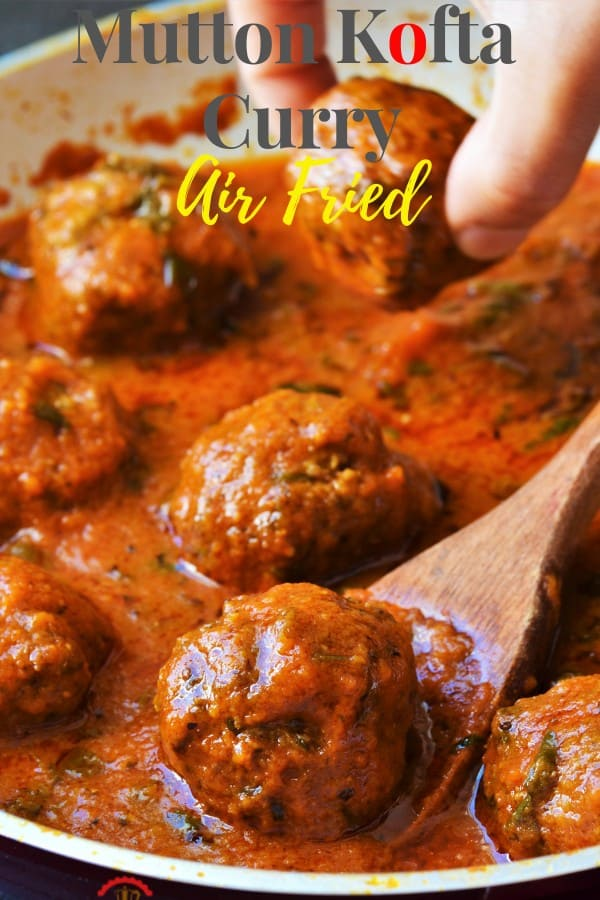 Mutton Keema balls curry in a creamy sauce