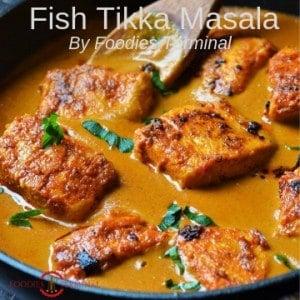 Fish Tikka Msala recipe made with Salmon