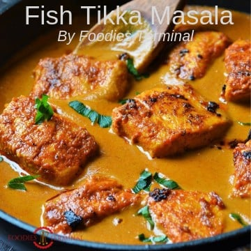 Fish Tikka Msala recipe made with Salmon