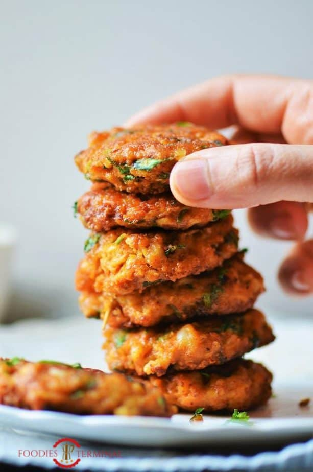 Shrimp Patties stacked high