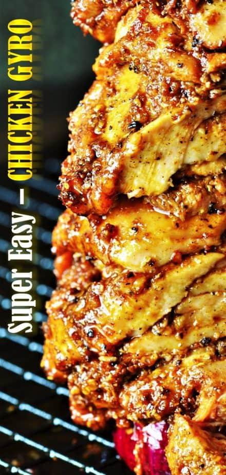 Authentic Greek Chicken Gyros recipe