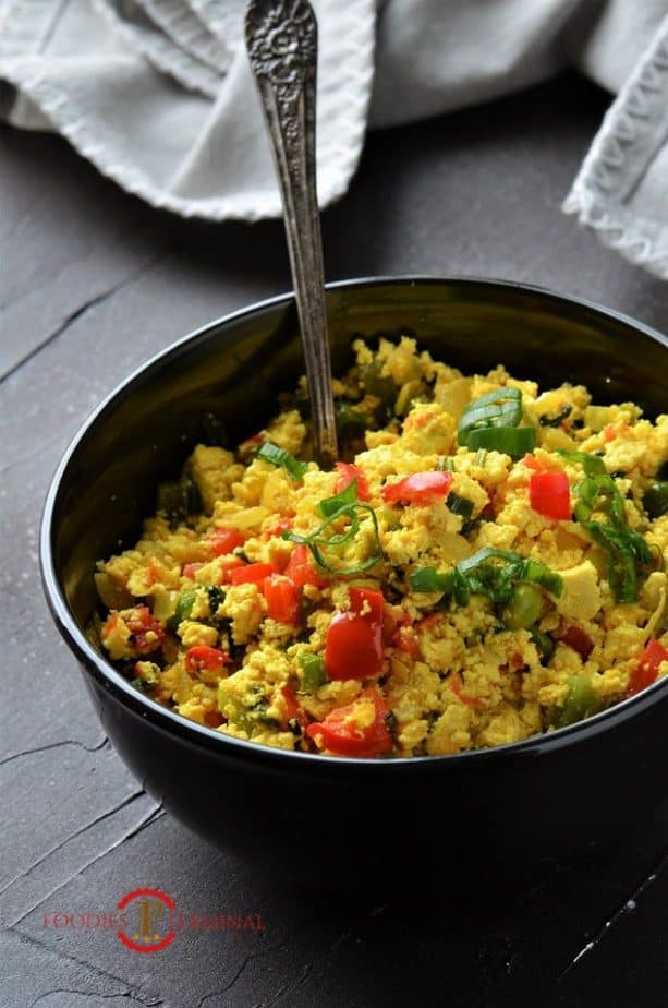 How to make tofu scramble without nutritional yeast