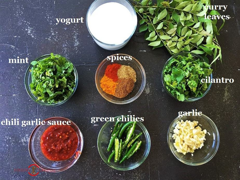 Ingredients for the home-made sauce