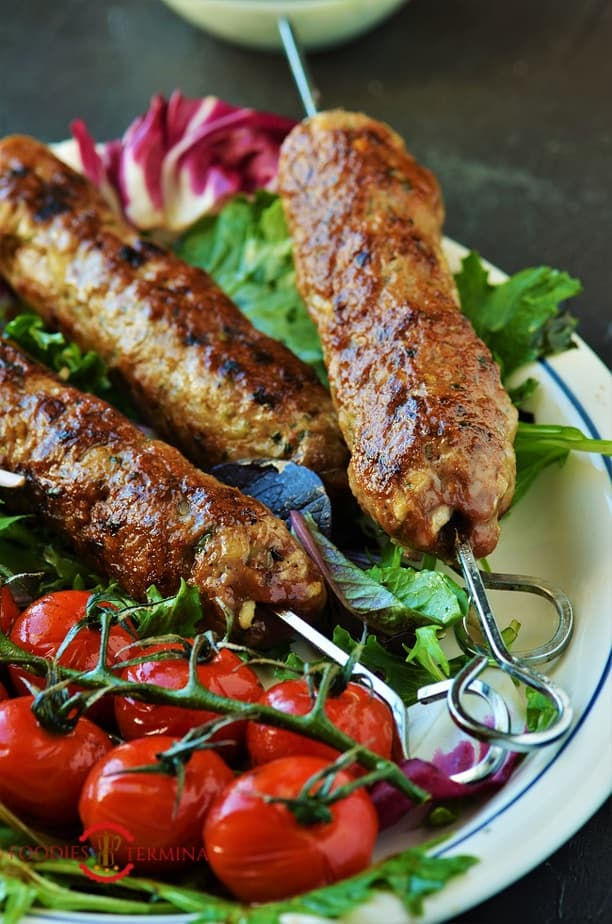 Mutton seekh kabab recipe made with lamb mince