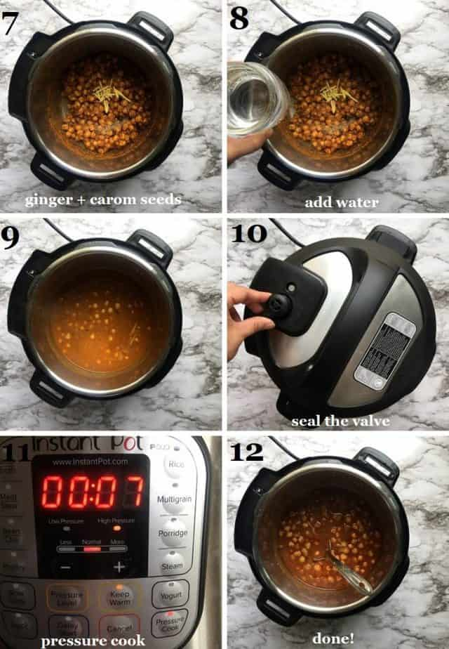 Instant Pot chana masala recipe with step by step pictures