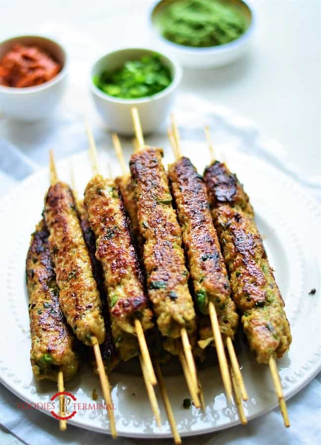 Chicken keema kabab tawa roasted until golden
