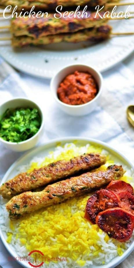 Chicken Seekh Kabab without oven