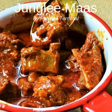 Junglee Maas in a spicy red sauce