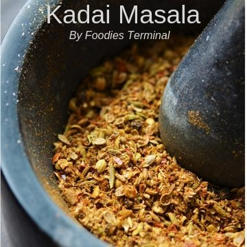 Kadai Masala in mortar & pestle