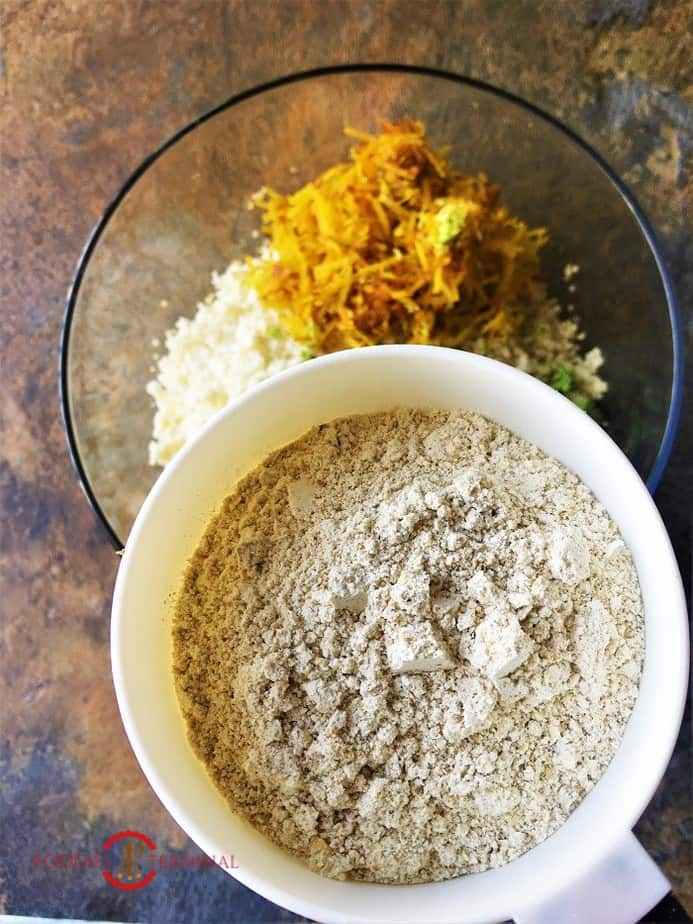 Roasted Oats flour for making the dough of Quinoa veggie Patties