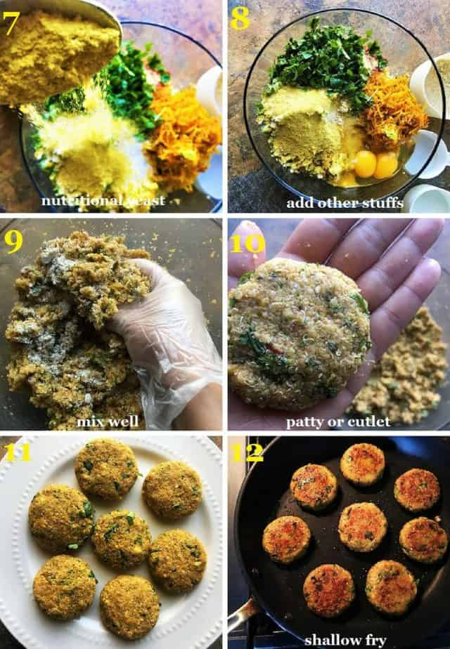 How to make the quinoa patties step by step pictures