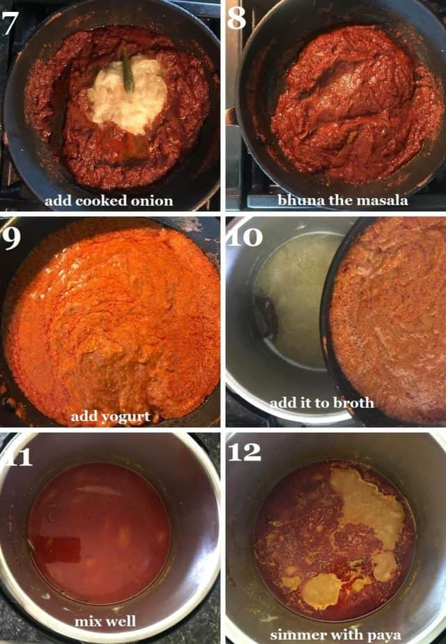 Goat paya in Instant pot steps pictures
