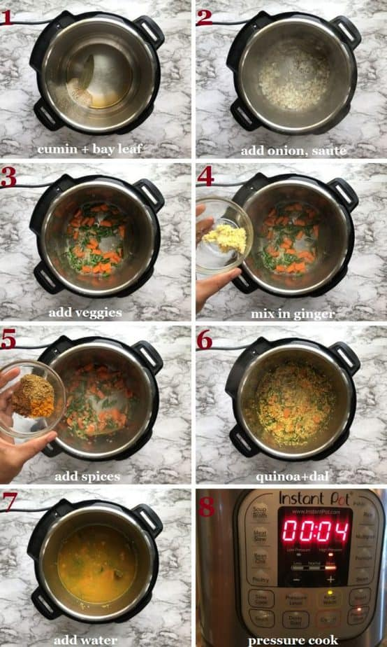 Recipe steps with pictures