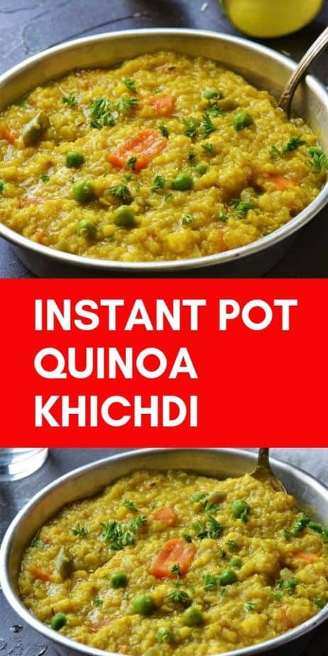 Quinoa Khichdi cooked with vegetables