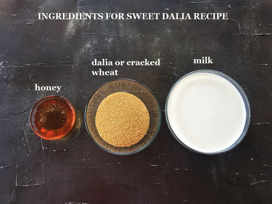 Instant pot sweet dalia recipe ingredients