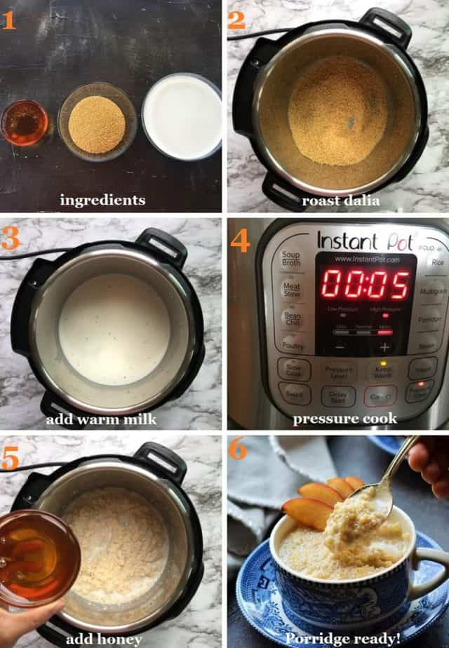 Instant pot cracked wheat porridge recipe steps