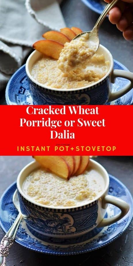 Instant Pot Sweet Dalia picture collage