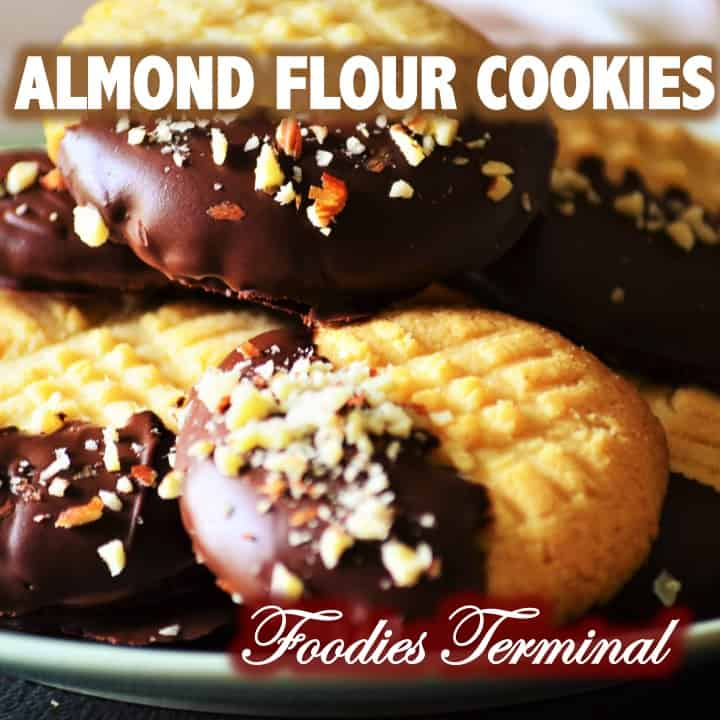 Almond flour cookies by foodies terminal