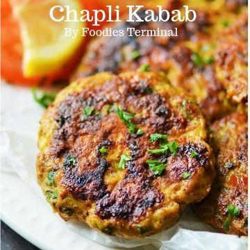 Chicken Chapli Kabab garnished with cilantro
