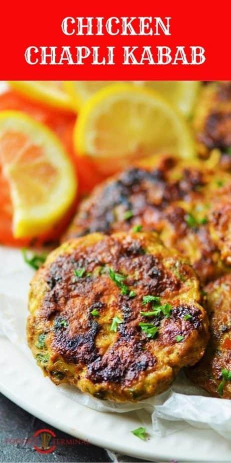 Peshawari Kabab garnished with chopped cilantro