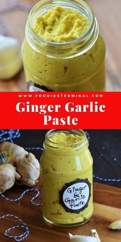 Ginger Garlic paste recipe picture collage