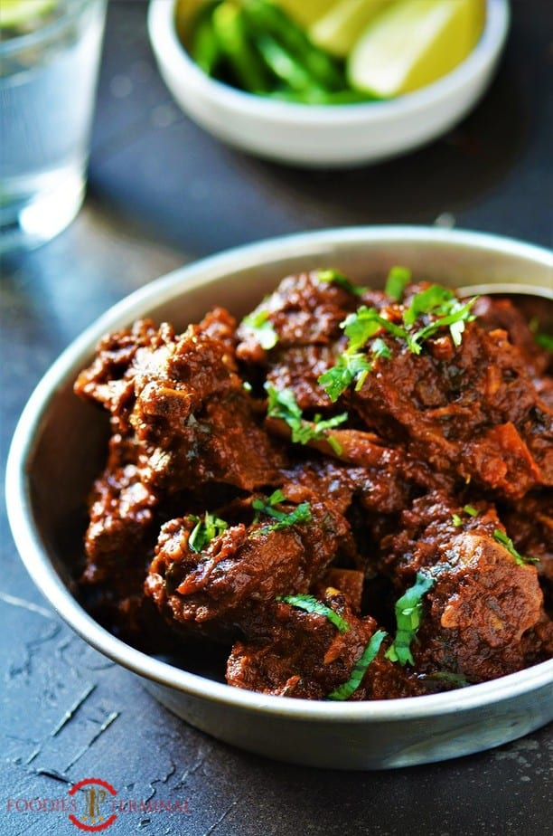 Hyderabadi Bhuna Gosht cooked in Instant Pot with mutton