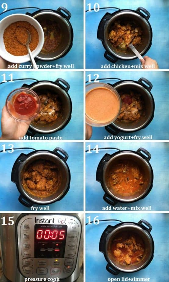 Recipe steps in pictures collage