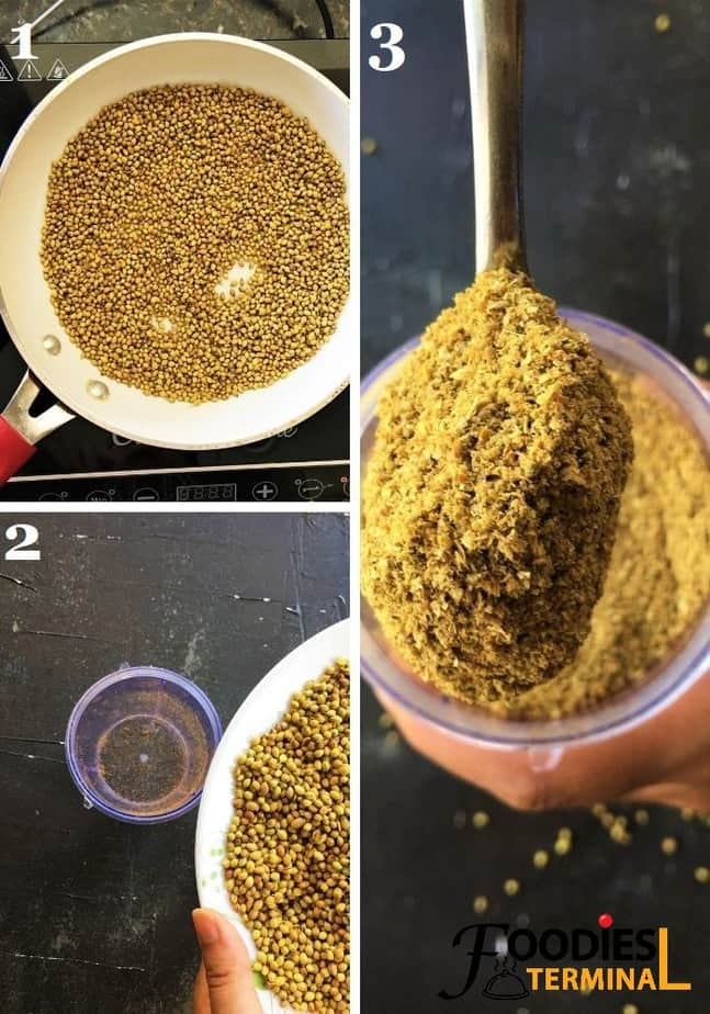 How to make coriander powder at home from coriander seeds recipe steps