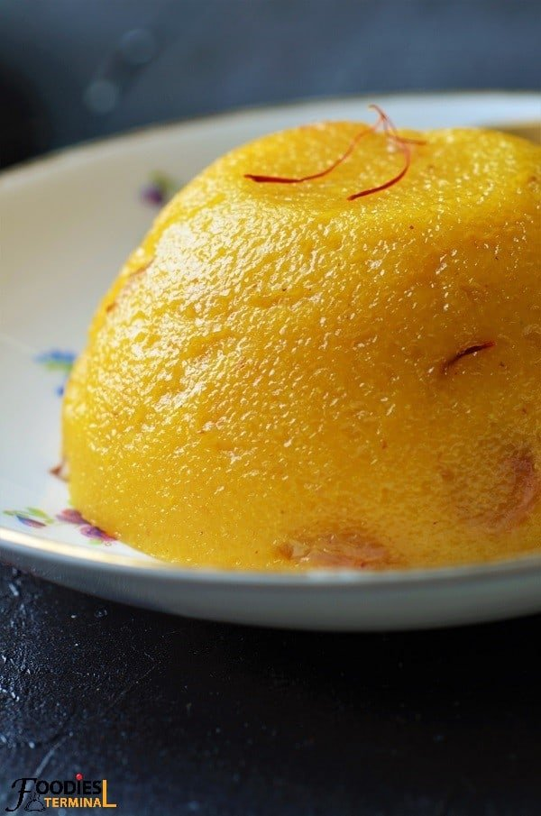Mango semolina kesari recipe cooked in ghee