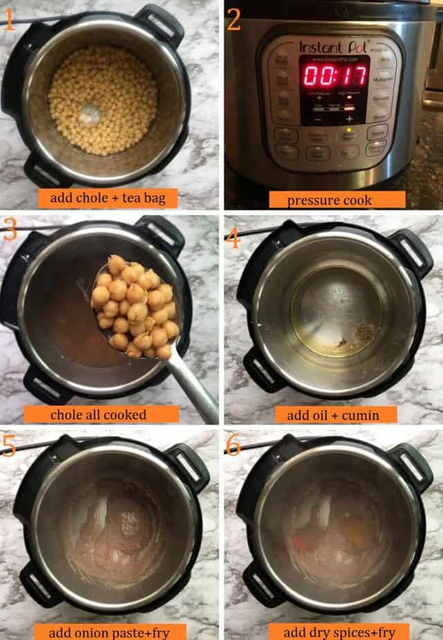 How to cook Indian aloo chole in Instant pot step by step
